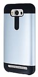 Dafoni Asus ZenFone 2 Laser 5 inç Slim Power Ultra Koruma Silver Kılıf