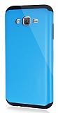 Dafoni Samsung Galaxy J7 Slim Power Ultra Koruma Mavi Kılıf