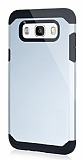 Dafoni Samsung Galaxy J7 2016 Slim Power Ultra Koruma Silver Kılıf