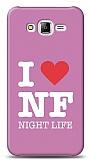 Dafoni Samsung Galaxy J7 I Love Night Life Pink K�l�f
