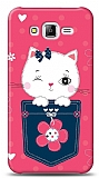 Dafoni Samsung Galaxy J7 Pink Cat K�l�f