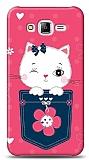 Dafoni Samsung Galaxy J7 Pink Cat Kılıf