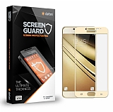 Dafoni Samsung Galaxy J7 Pro 2017 Curve Tempered Glass Premium Full Gold Cam Ekran Koruyucu