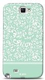 Dafoni Samsung Galaxy Note 2 Green Flower K�l�f