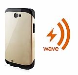 Dafoni Samsung Galaxy Note 2 Wave Slim Power Kablosuz Sarj Eden Gold K�l�f