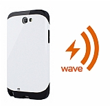 Dafoni Samsung Galaxy Note 2 Wave Slim Power Kablosuz Sarj Eden Beyaz K�l�f