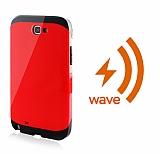 Dafoni Samsung Galaxy Note 2 Wave Slim Power Kablosuz Sarj Eden K�rm�z� K�l�f