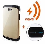 Dafoni Samsung Galaxy Note 2 Wave Slim Power Gold Kablosuz �arj Seti