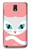 Dafoni Samsung N9000 Galaxy Note 3 Big Face Cat Rubber K�l�f
