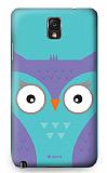 Dafoni Samsung N9000 Galaxy Note 3 Big Face Owl Rubber K�l�f