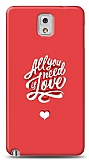 Dafoni Samsung Galaxy Note 3 Need Love K�l�f