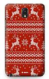 Dafoni Samsung N9000 Galaxy Note 3 Sweater Deer K�rm�z� Rubber K�l�f