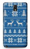 Dafoni Samsung N9000 Galaxy Note 3 Sweater Deer Mavi Rubber K�l�f
