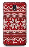 Dafoni Samsung N9000 Galaxy Note 3 Sweater Snow K�rm�z� Rubber K�l�f