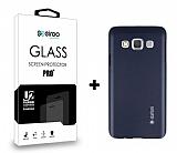 Dafoni Samsung Galaxy A3 Dark Silver K�l�f ve Eiroo Cam Ekran Koruyucu Seti