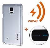 Dafoni Samsung Galaxy Note 4 Wave Metallic Thin Silver Kablosuz �arj Seti