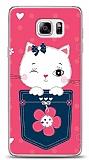 Dafoni Samsung Galaxy Note 5 Pink Cat K�l�f