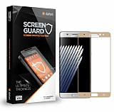Dafoni Samsung Galaxy Note FE Tempered Glass Premium Gold Full Cam Ekran Koruyucu