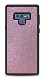 Dafoni Samsung Galaxy Note 9 Silikon Kenarlı Simli Pembe Kılıf
