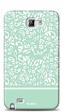 Dafoni Samsung Galaxy Note Green Flower K�l�f