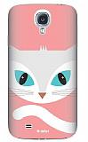 Dafoni Samsung i9500 Galaxy S4 Big Face Cat Rubber K�l�f