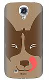 Dafoni Samsung i9500 Galaxy S4 Big Face Dog Rubber K�l�f