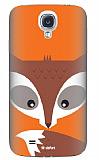 Dafoni Samsung i9500 Galaxy S4 Big Face Fox Rubber K�l�f