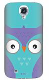 Dafoni Samsung i9500 Galaxy S4 Big Face Owl Rubber K�l�f