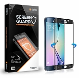 Dafoni Samsung Galaxy S6 Edge Full Tempered Glass Premium Lacivert Cam Ekran Koruyucu