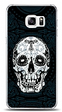 Samsung Galaxy S6 Edge Plus Black Skull Kılıf