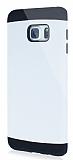 Dafoni Samsung Galaxy S6 Edge Plus Slim Power Ultra Koruma Beyaz Kılıf