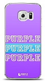 Dafoni Samsung Galaxy S6 edge Purple Design Kılıf