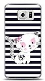 Samsung Galaxy S6 Stripe Cat Kılıf