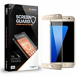 Dafoni Samsung Galaxy S7 Curve Tempered Glass Premium Gold Full Cam Ekran Koruyucu