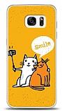Samsung Galaxy S7 Edge Selfie Cat Kılıf