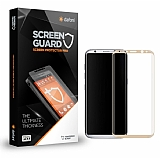 Dafoni Samsung Galaxy S8 Plus Curve Tempered Glass Premium Gold Full Cam Ekran Koruyucu