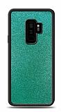 Dafoni Samsung Galaxy S9 Plus Silikon Kenarlı Simli Turkuaz Kılıf