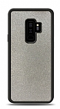 Dafoni Samsung Galaxy S9 Plus Silikon Kenarlı Simli Silver Kılıf