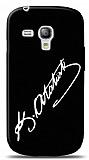 Dafoni Samsung i8190 Galaxy S3 mini Atat�rk �mza Siyah K�l�f