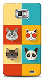 Samsung i9100 Galaxy S2 Four Cats Kılıf