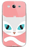 Dafoni Samsung i9300 Galaxy S3 Big Face Cat Rubber K�l�f
