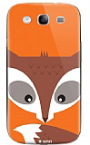 Dafoni Samsung i9300 Galaxy S3 Big Face Fox Rubber K�l�f