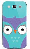 Dafoni Samsung i9300 Galaxy S3 Big Face Owl Rubber K�l�f