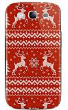 Dafoni Samsung i9300 Galaxy S3 Sweater Deer K�rm�z� Rubber K�l�f