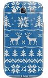Dafoni Samsung i9300 Galaxy S3 Sweater Deer Mavi Rubber K�l�f
