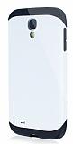 Dafoni Samsung i9500 Galaxy S4 Slim Power Ultra Koruma Beyaz Kılıf