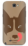 Dafoni Samsung N7100 Galaxy Note 2 Big Face Dog Rubber K�l�f