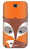 Dafoni Samsung N7100 Galaxy Note 2 Big Face Fox Rubber K�l�f