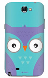 Dafoni Samsung N7100 Galaxy Note 2 Big Face Owl Rubber K�l�f