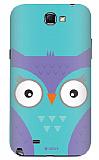 Dafoni Samsung N7100 Galaxy Note 2 Big Face Owl Rubber K�l�f